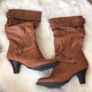Cognac Boots - NWT